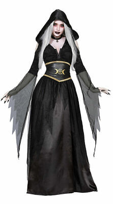 Pagan Witch Adult Women's Halloween Costume Wiccan Witchcraft Moon Goddess SM-XL - Witchcraft Costume