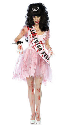 WOMENS LADIES ZOMBIE HALLOWEEN PROM QUEEN COSTUME FANCY DRESS PARTY  ()