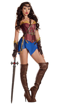 Sexy Party King Glamazonian Wonder Warrior Woman Corset Dress Costume PK868 - Warrior Corset