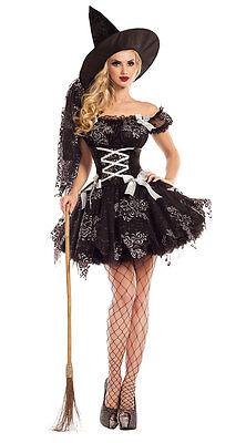 Sexy Party King Silver Sparkle Witch Mini Dress - Witch King Kostüm