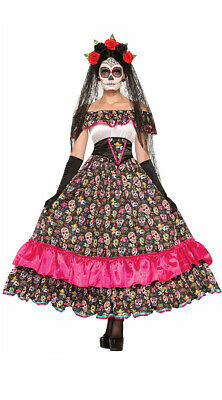 Spanish Woman Costume (Standard Womens Spanish Lady Day Of Dead Costume, Women's Day Of The)