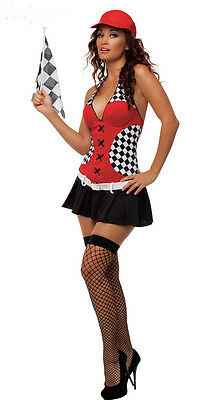 Women Racing Girls Costume Women Car Driver Nascar Racer F1 Halloween - Nascar Racer Halloween Costumes