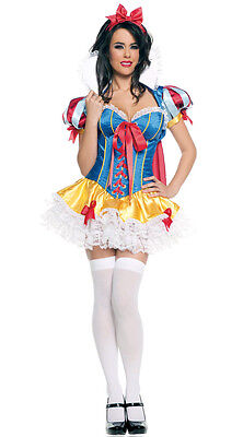 Sexy Snow White Princess Dress Complete Costume Set for Cosplay Halloween Party - White Dress For Halloween Costume
