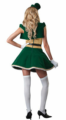 ST. PATRICK'S DAY DELUXE LUCKY LASS COSTUME WOMENS SIZE SMALL SEXY LEPRECHAUN - Female Leprechaun Halloween Costumes