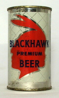 Blackhawk Premium Beer 12 oz. Flat Top Beer Can-Cleveland, OH.