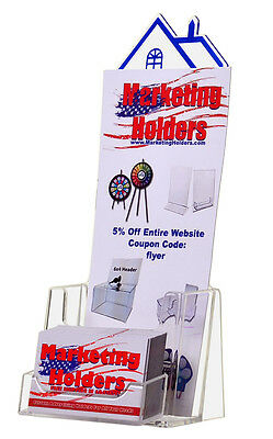 Real Estate 4 Tri-fold Brochure Holder With Attached Card Holder