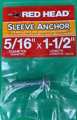 PK25 CST 4in Sleeve Anchor 2 pieces Hex Nut 3//8in
