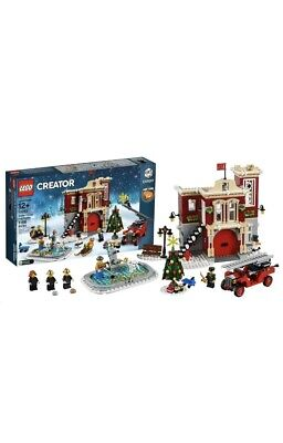 RETIRED!!! Christmas 10263 Winter Village Fire Station New Factory Sealed
