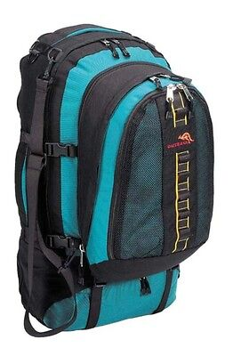 Travelpack Backpack Rucksack Green/Black Detachable Daypack 1000D Cordura 80 Lt