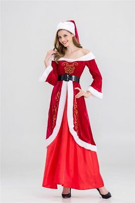 Women Christmas Costumes Dress Santa Claus For Adults Men Red Christmas Clothes](Christmas Clothes For Adults)
