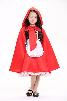 Kids/Adult  Girls Halloween Costume small red hat dress - Halloween Costume Red Hat
