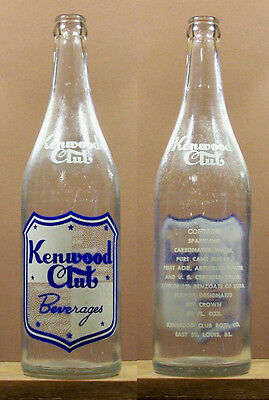 Kenwood Club Beverages ACL 24 ounce Soda Pop Bottle East St Louis Missouri 787
