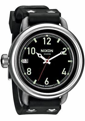 Original Nixon Men's A488000 October Black 48.5mm Swiss Dive Rubber Strap Watch
