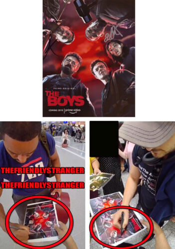 LAZ ALONSO & TOMER CAPON signed Autographed THE BOYS 8X10 Photo EXACT PROOF COA