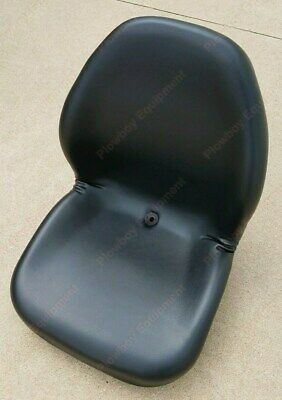 Black Vinyl Seat For Riding Lawn Mower Skid Steer Utv Compact Tractor Zero Turn