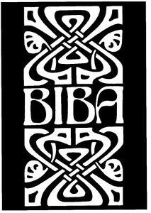 BIBA  POSTER. Pop art, retro, 60's, mod, 60's fashion, Twiggy.