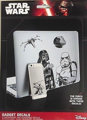 Star Wars Gadget Decals 17 Stickers for Laptops Tablets And Phones