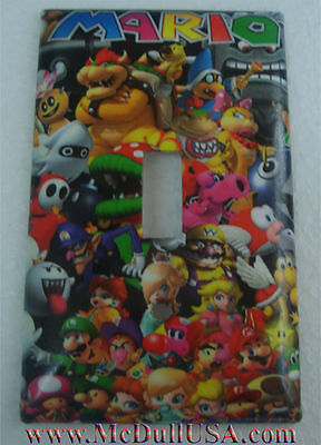 Super Mario All Characters Toggle Rocker Light Switch Outlet Wall Cover Plate ()