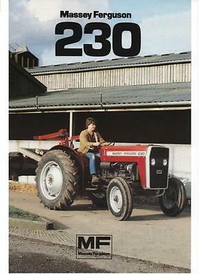 MASSEY FERGUSON MF230 TRACTOR PARTS MANUAL 130pgs w/ MF 230 Parts List Catalog