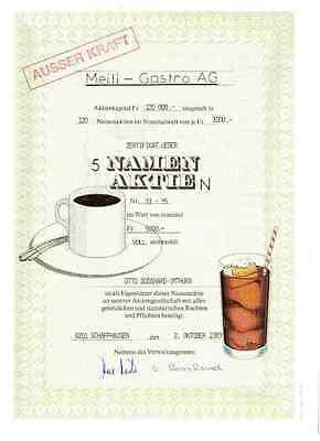 Schweiz: Meili - Gastro AG  1989 Schaffhausen