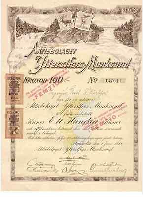 Ytterstfors-Munksund 1918 Stockholm   DEKO