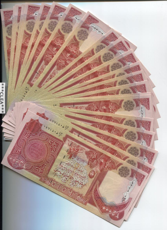 Купить 100,000 NEW CRISP IRAQI DINAR UNCIRCULATED SERIAL NUMBERED 4 x 25,000 25000 IQD