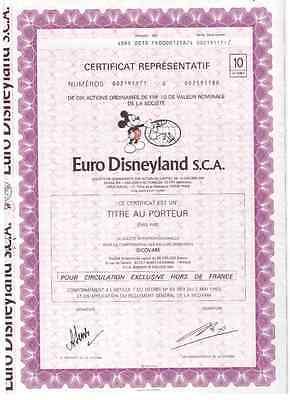 Euro Disneyland  S.C.A  Paris  Disney , Selten angeboten 10er