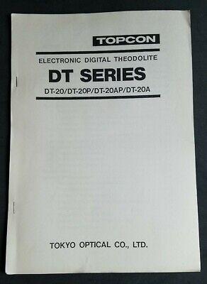 Copy Of Topcon Digital Theodolite Dt-seriesdt-20dt-20pdt20-apdt20a