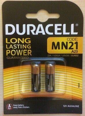 2er Pack Alkaline Batterie Duracell 23A 12V Volt p23ga Mn21 V23GA A23 Blister