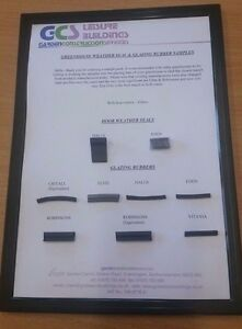 Greenhouse Glazing Rubber & Door Weather Seals SAMPLE PACK Try before you buy