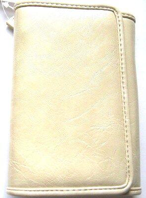 Croft & Barrow Women's Nancy Indexer Trifold Wallet Bone White $30 New