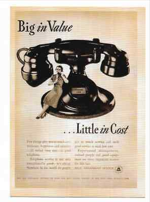 The Bell Telephone System   Advertisement Reproduction Postcard