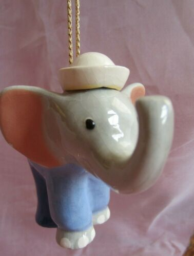 Beachstone Dumbo Elephant Porcelain Figurine Ornament Christmas Holiday