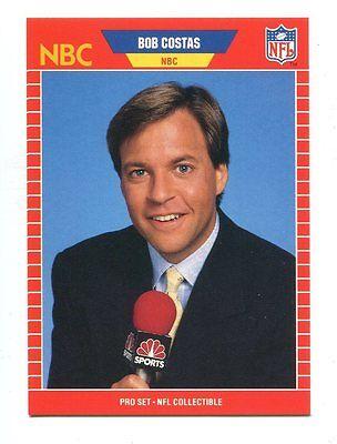 1989 Pro Set Announcers  23 Bob Costas Nbc