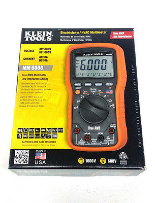 Klein Tools Mm6000 Electricianshvac Multimeter True Rms Made In The Usa