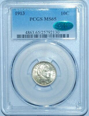 Click now to see the BUY IT NOW Price! 1913 PCGS MS65 CAC BARBER DIME