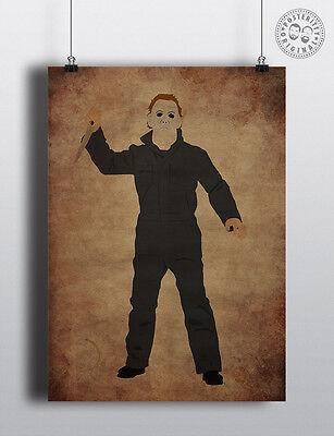 malist Halloween Villain Movie Poster by Posteritty Design (Halloween Poster Design)