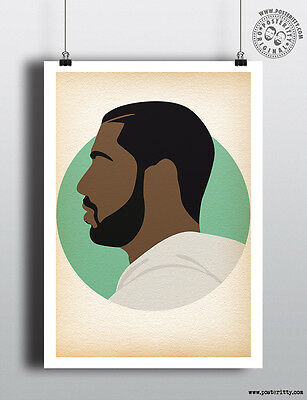 DRAKE - Minimalist Hip Hop Heads Hair Poster Minimal Posteritty Art Rapper Dance](Rapper Hair)
