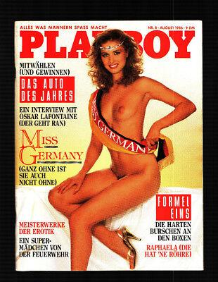 PLAYBOY 8/1986 August Anke Symkowitz, Raphaella Dell, Carole