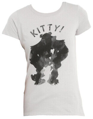 Disney Monsters Inc Kitty Grey Juniors T-Shirt - Kitty Monsters Inc