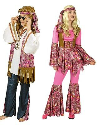 Hippie California Ethno Stil Damen oder Herren Kostüm 70 er Jahre  (70er Jahre Stil Kostüme)