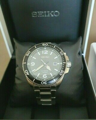 Seiko Kinetic Sports 5M82-0AY0 Stainless Steel, Mint, with Box & All paperwork