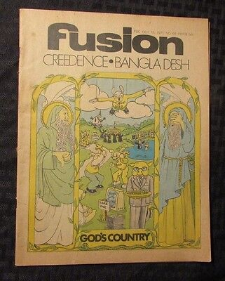 1971 Fusion  64 Music Culture Newspaper Vg Creedence Clearwater Revival Ccr