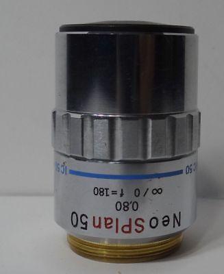 Olympus Microscope Objective Neo Splan 50 080 F180 Ic 50