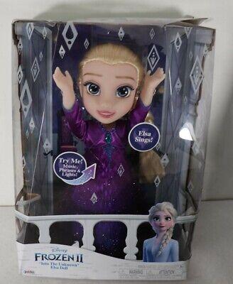 "Disney Frozen 2 II Into The Unknown Singing Elsa 14"" Doll New Box Damage"