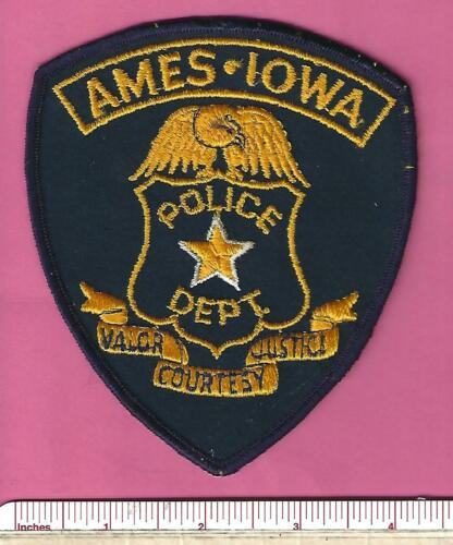 Ames IA State of Iowa Law Enforcement Police Shoulder Patch - Story County
