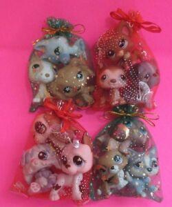 Littlest Pet Shop Lot of 3 Random Surprise Puppy Dogs Authentic Lps Figures