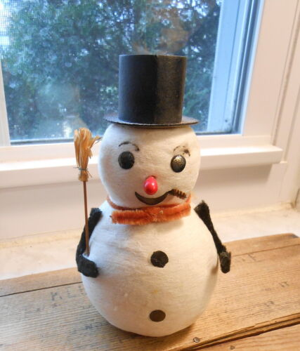Vintage Japan Cotton Batten Snowman - 6""