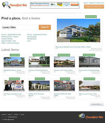 Real Estate Classifieds Website - Free Install Hosting