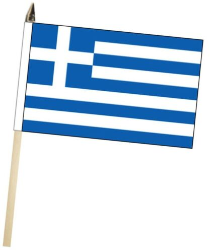 Greece Large Hand Waving Courtesy Flag